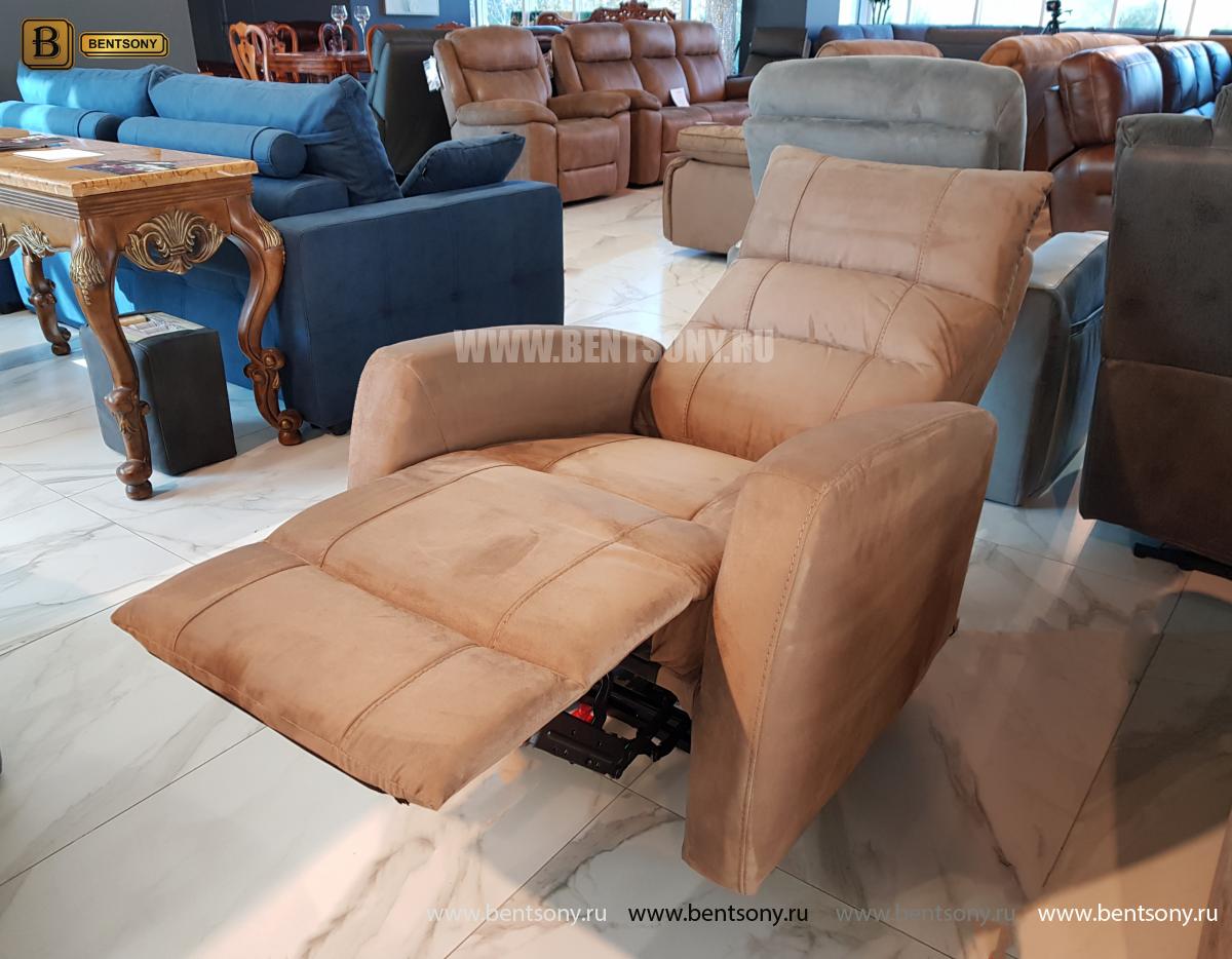 Кресло тканевое Лаваль с электрореклайнером каталог мебели с ценами