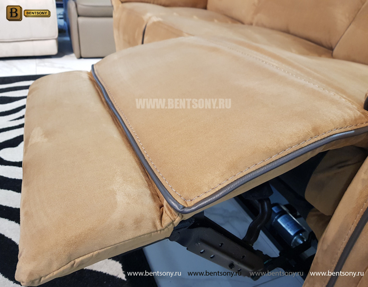 Диван Ларецо тройной с реклайнерами каталог мебели