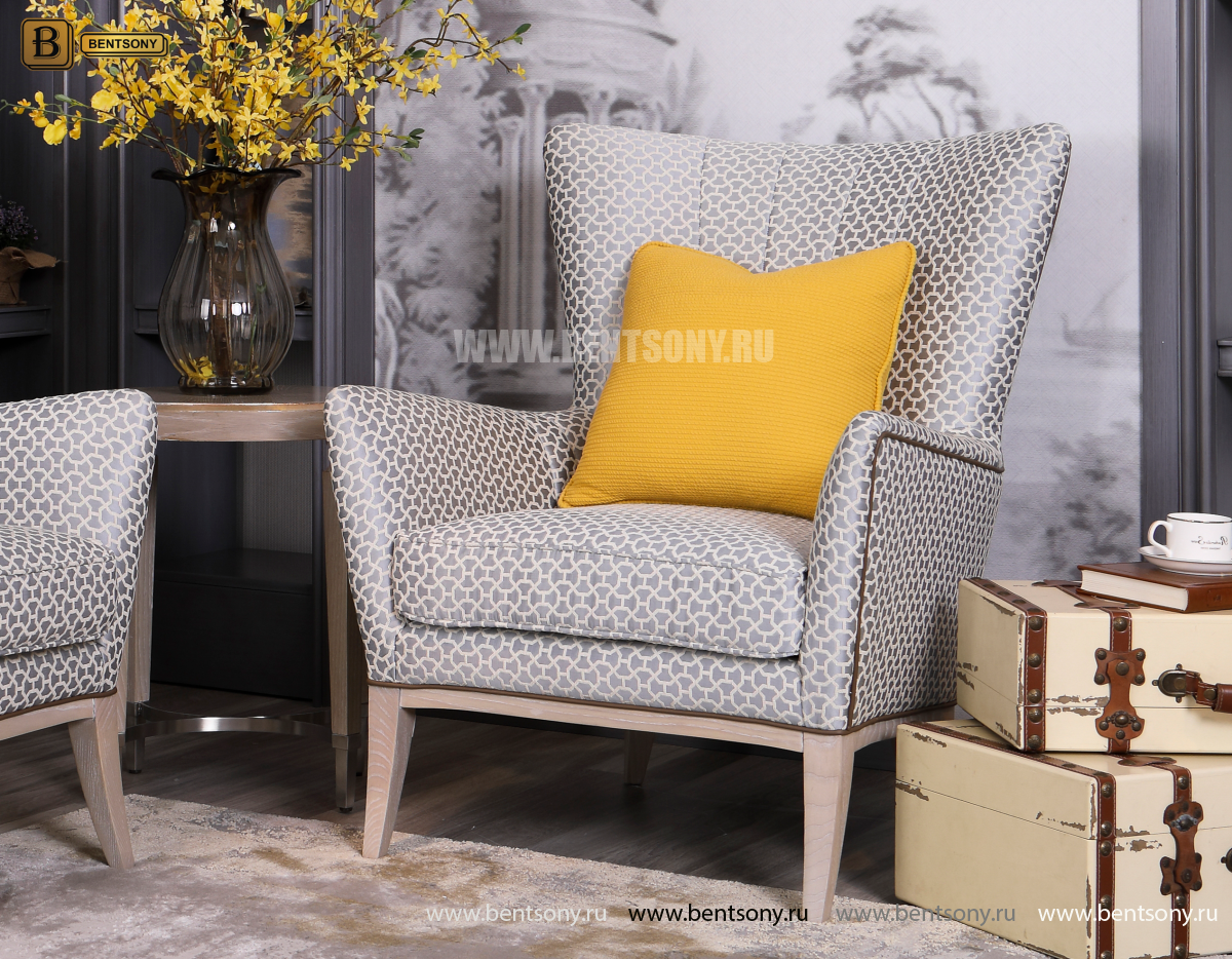 Кресло для отдыха Невада F (Неоклассика, Ткань) в интерьере
