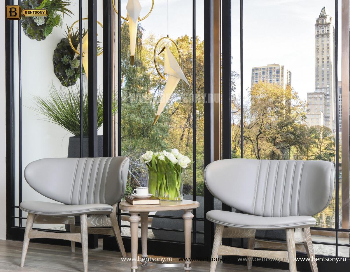 Кресло для отдыха Невада J (Неоклассика, кожа+кожзам) в интерьере