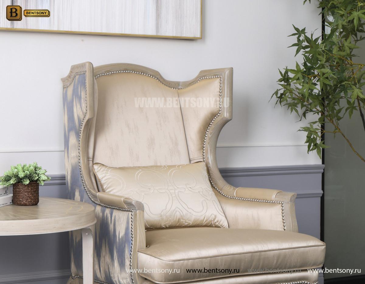 КОПИЯ Кресло для отдыха Невада B (Неоклассика, натуральная кожа) для дома