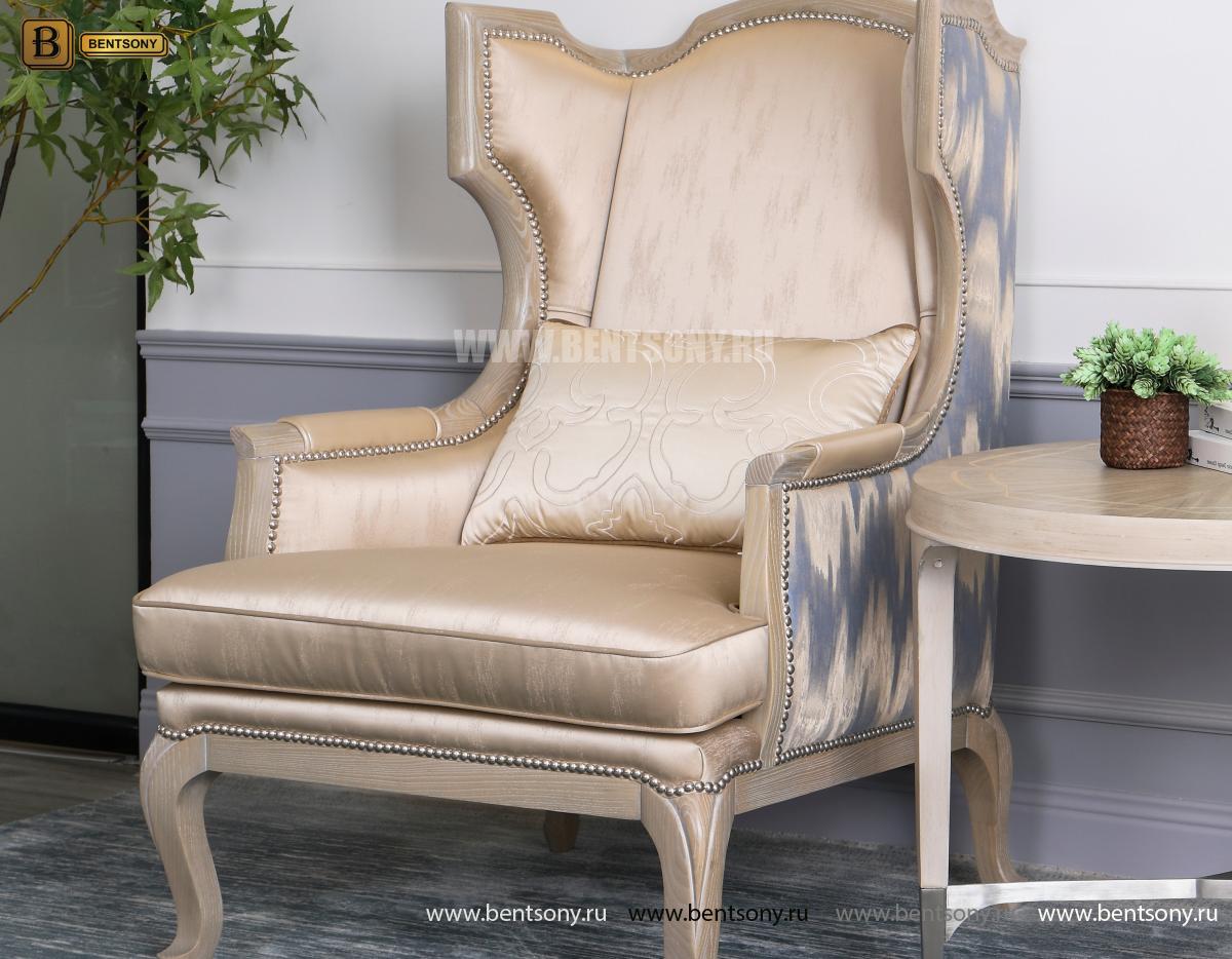 КОПИЯ Кресло для отдыха Невада B (Неоклассика, натуральная кожа) купить в Москве