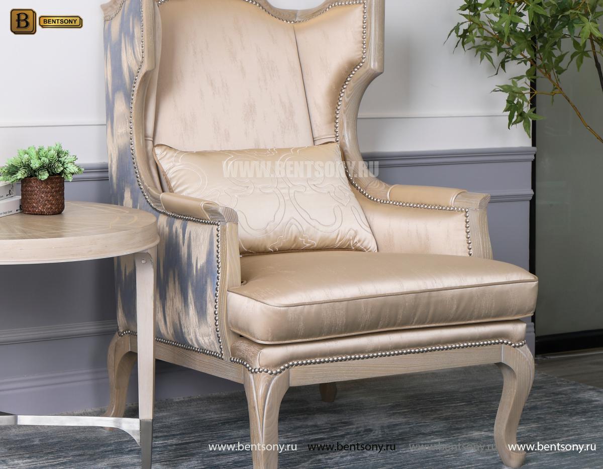 КОПИЯ Кресло для отдыха Невада B (Неоклассика, натуральная кожа) каталог