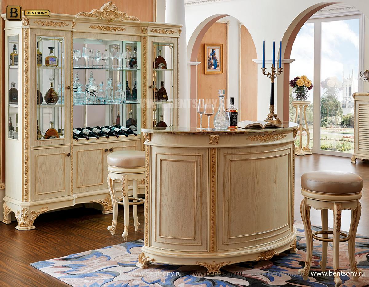 Барная стойка Белмонт-W (Классика, столешница мрамор) купить в СПб