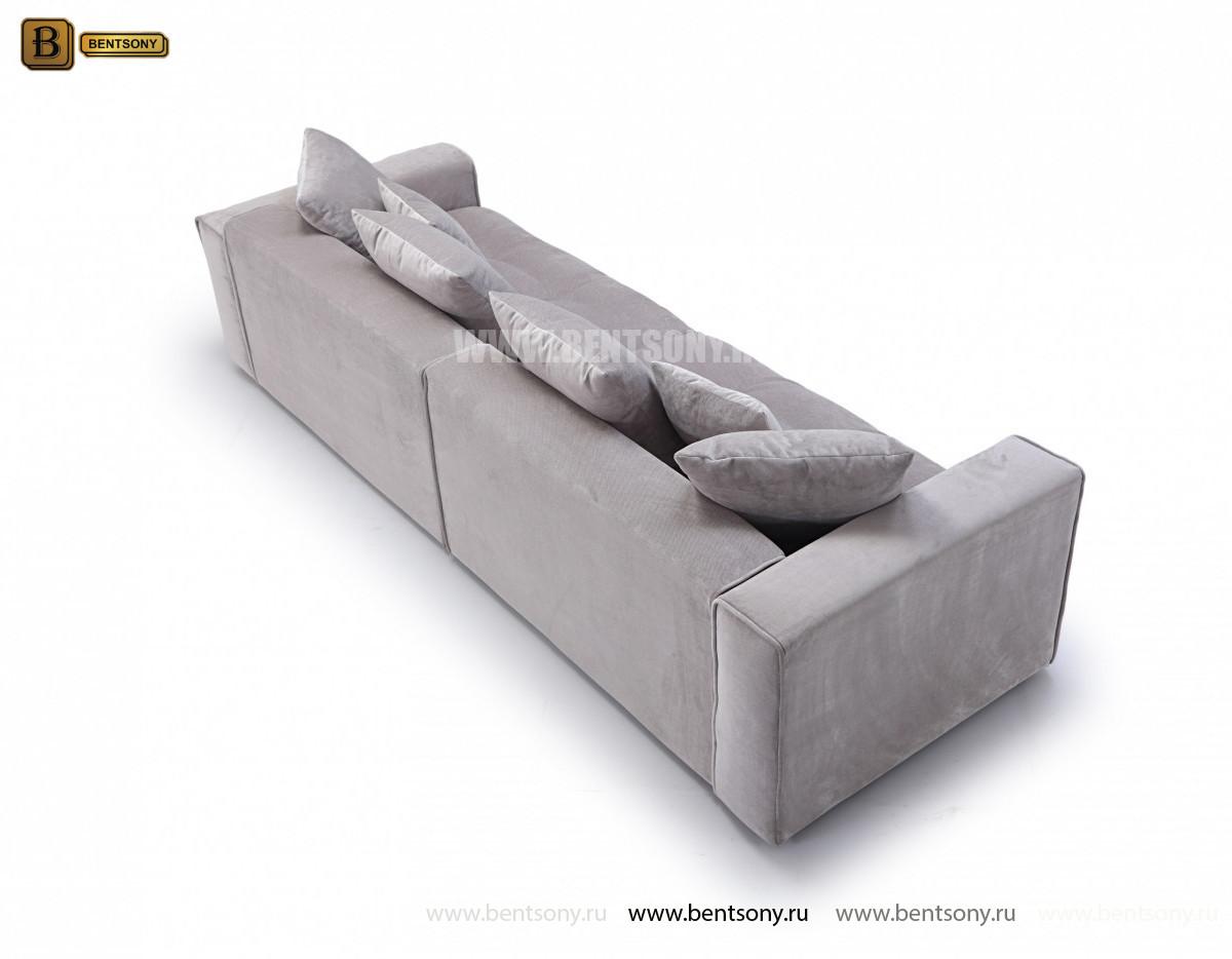 Диван Бениамино двойной, серый (Прямой) цена