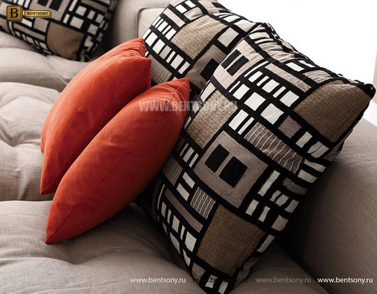 Диван Бениамино двойной, серый (Прямой) фото