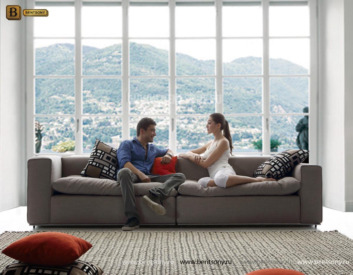 Диван Бениамино двойной, серый (Прямой) каталог мебели
