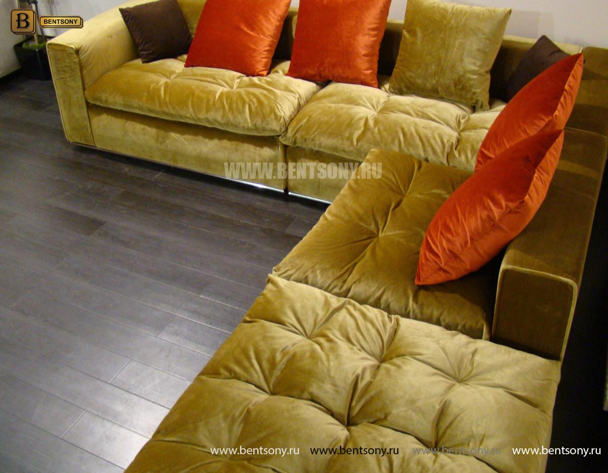 Диван Бениамино, угловой (цвет горчичный) каталог мебели