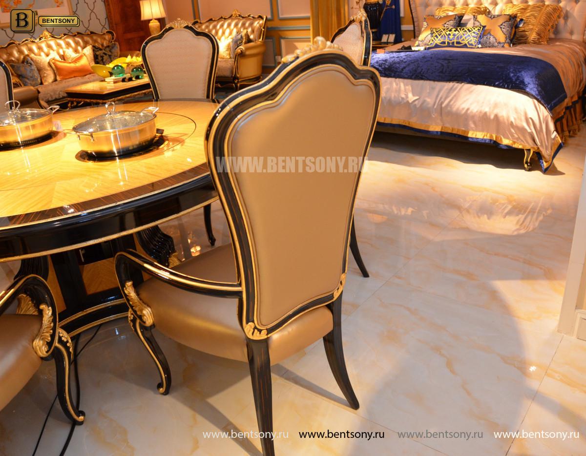 Стол обеденный круглый большой Конкорд (Классика, массив дерева) распродажа