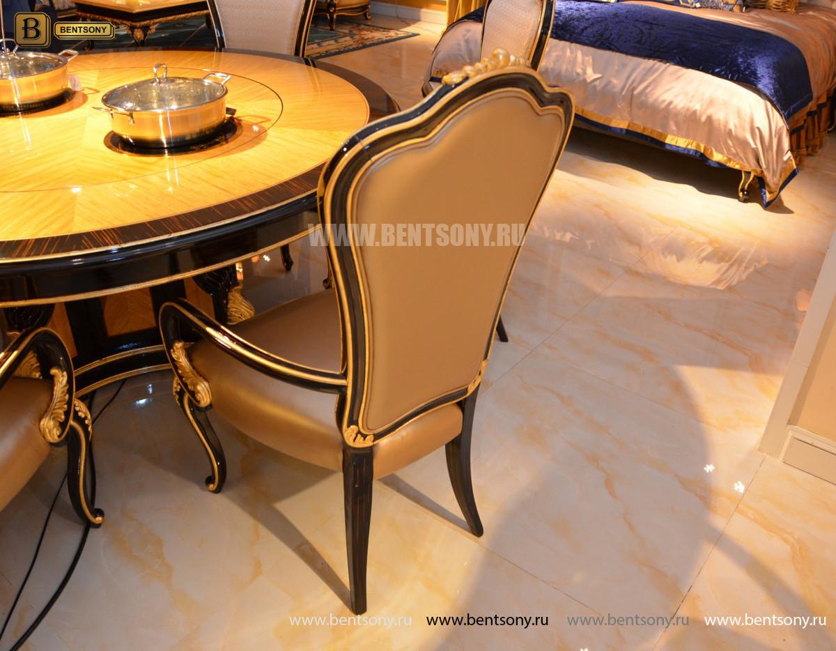 Стол обеденный круглый большой Конкорд (Классика, массив дерева) каталог с ценами