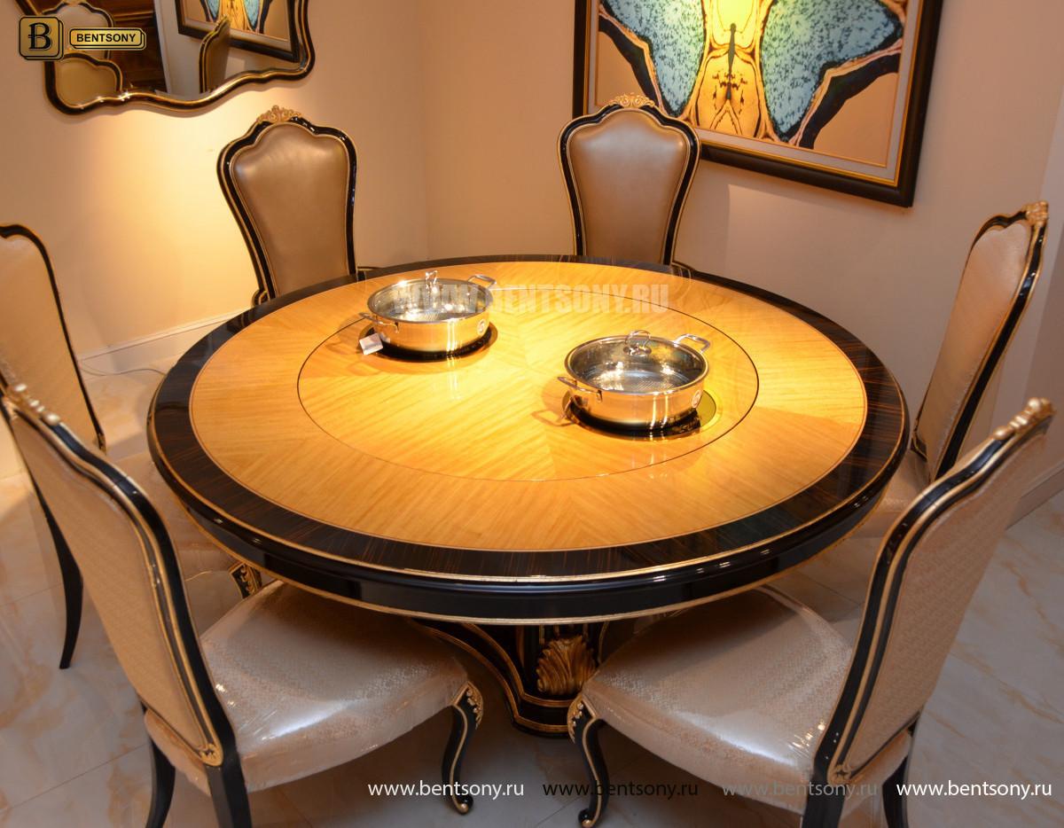 Стол обеденный круглый большой Конкорд (Классика, массив дерева) цена