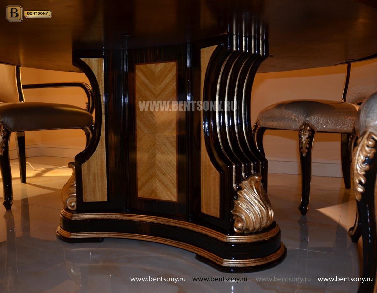 Стол обеденный круглый большой Конкорд (Классика, массив дерева) для дома