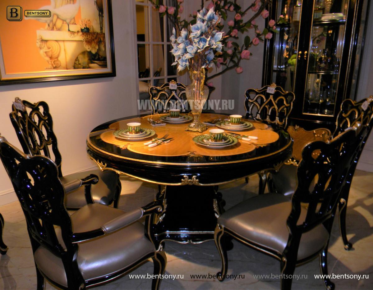 Стол обеденный круглый Конкорд (Классика, массив дерева) для дома