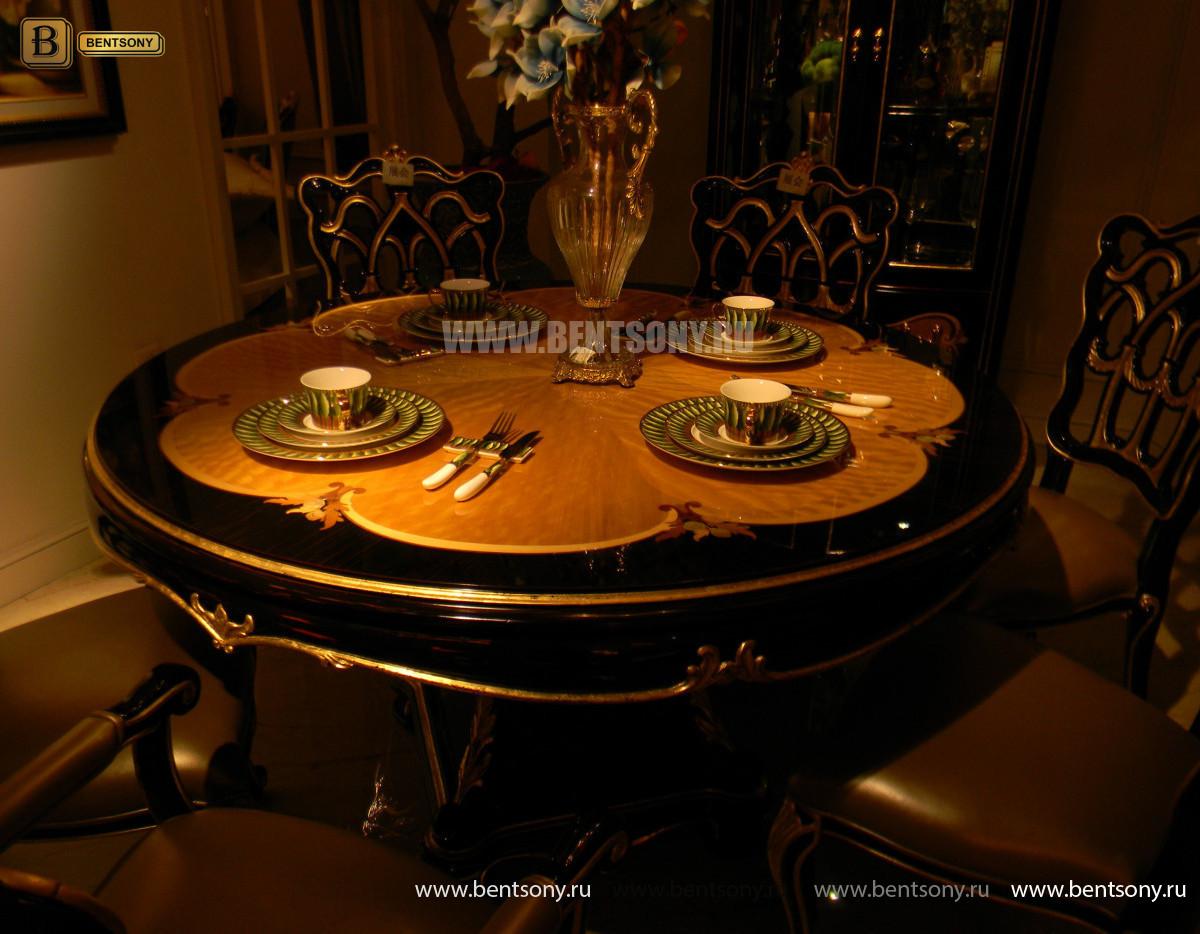 Стол обеденный круглый Конкорд (Классика, массив дерева) в СПб