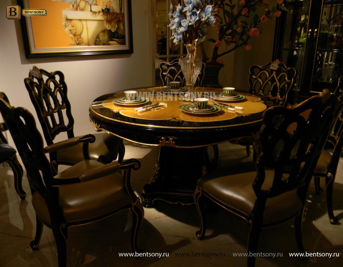 Стол обеденный круглый Конкорд (Классика, массив дерева) каталог мебели с ценами