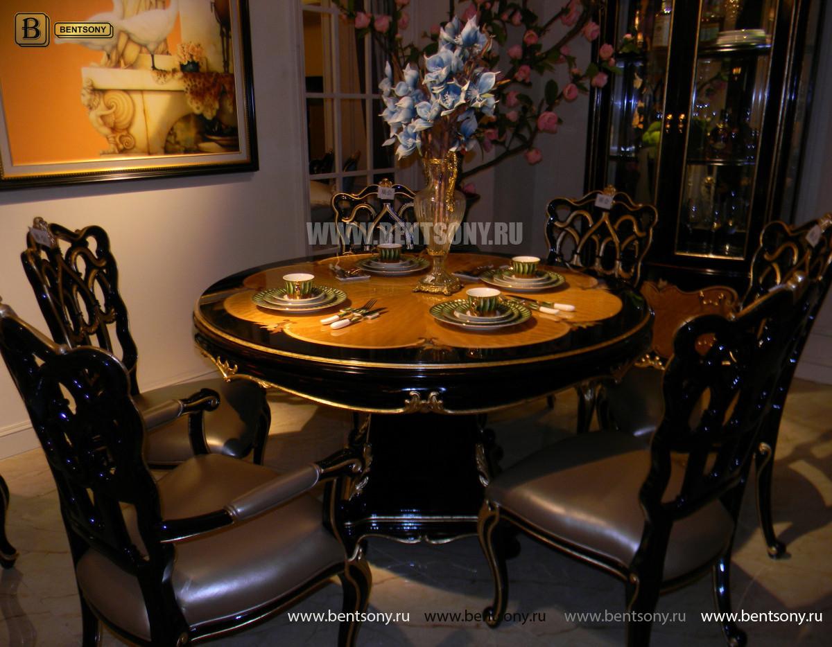 Стол обеденный круглый Конкорд (Классика, массив дерева) магазин Москва