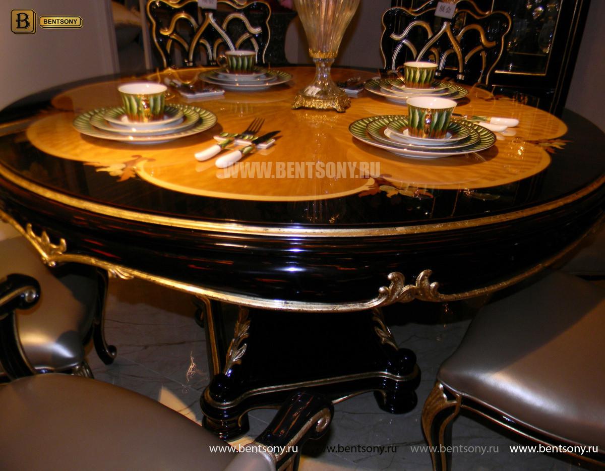 Стол обеденный круглый Конкорд (Классика, массив дерева) купить в Москве