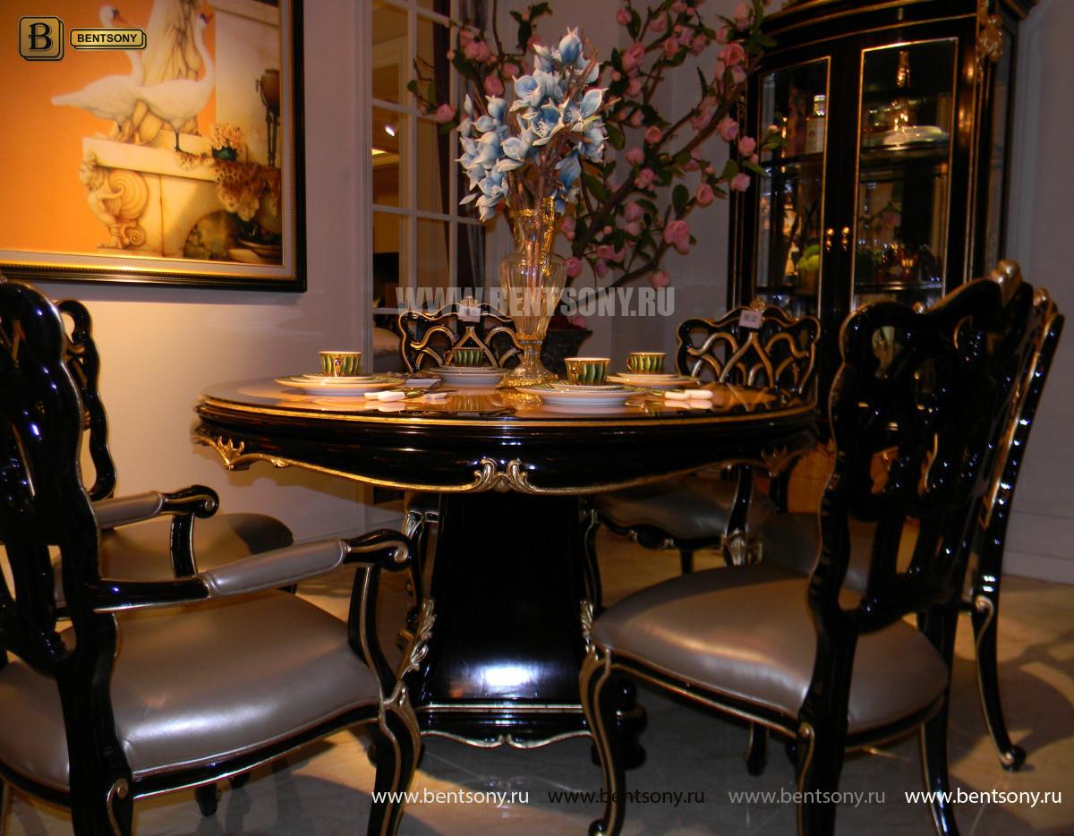 Стол обеденный круглый Конкорд (Классика, массив дерева) распродажа