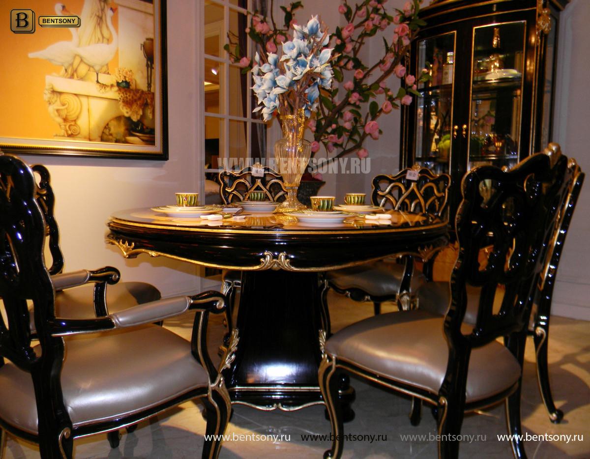 Стол обеденный круглый Конкорд (Классика, массив дерева) цена