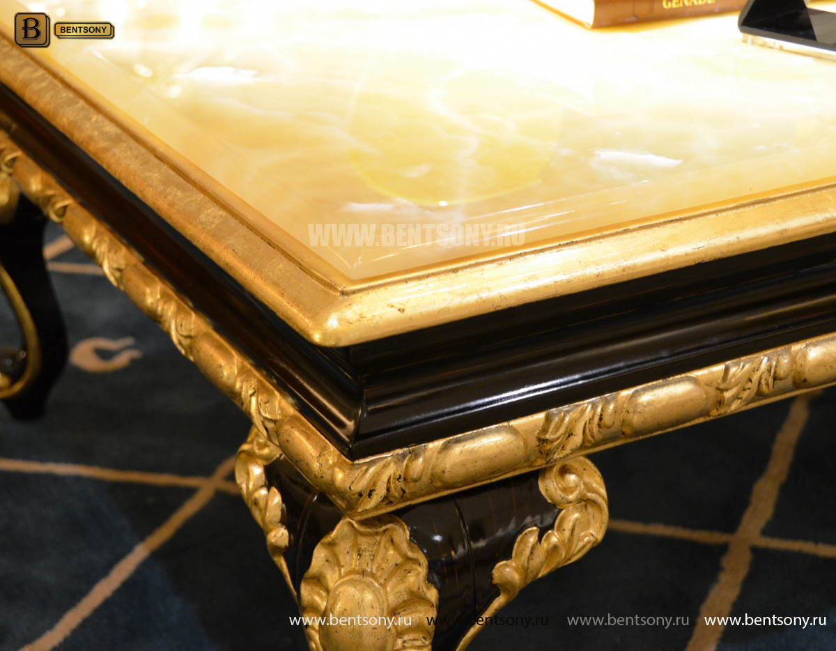 Стол Журнальный Прямоугольный  Конкорд А (Массив дерева, столешница мрамор) каталог мебели с ценами