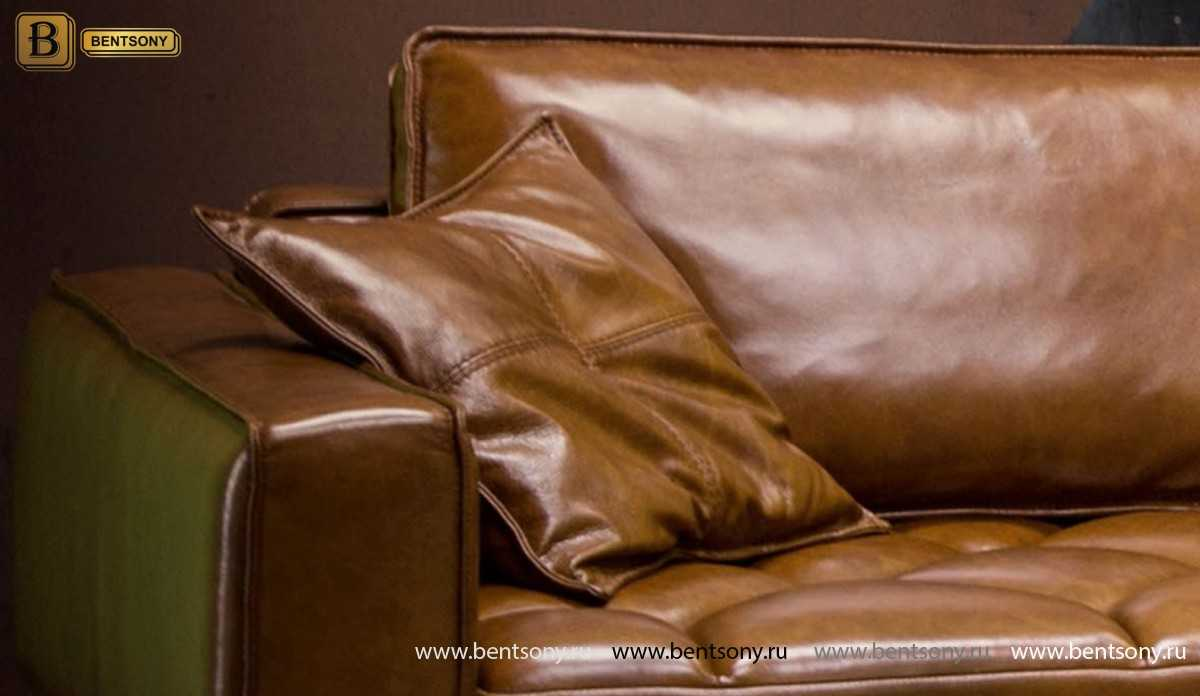 Диван Нунзио (Угловой, Натуральная кожа, Капитоне) каталог мебели