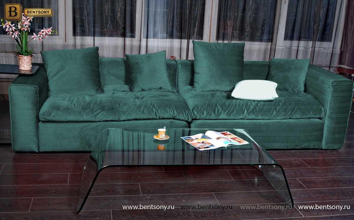 Зеленый велюр Диван Beniamino