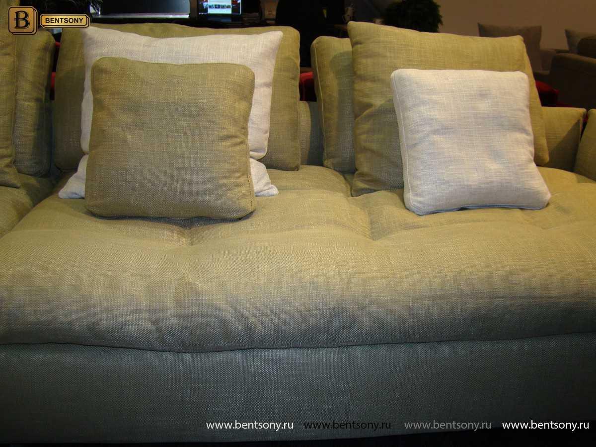 мягкий светлый диван Арлетто