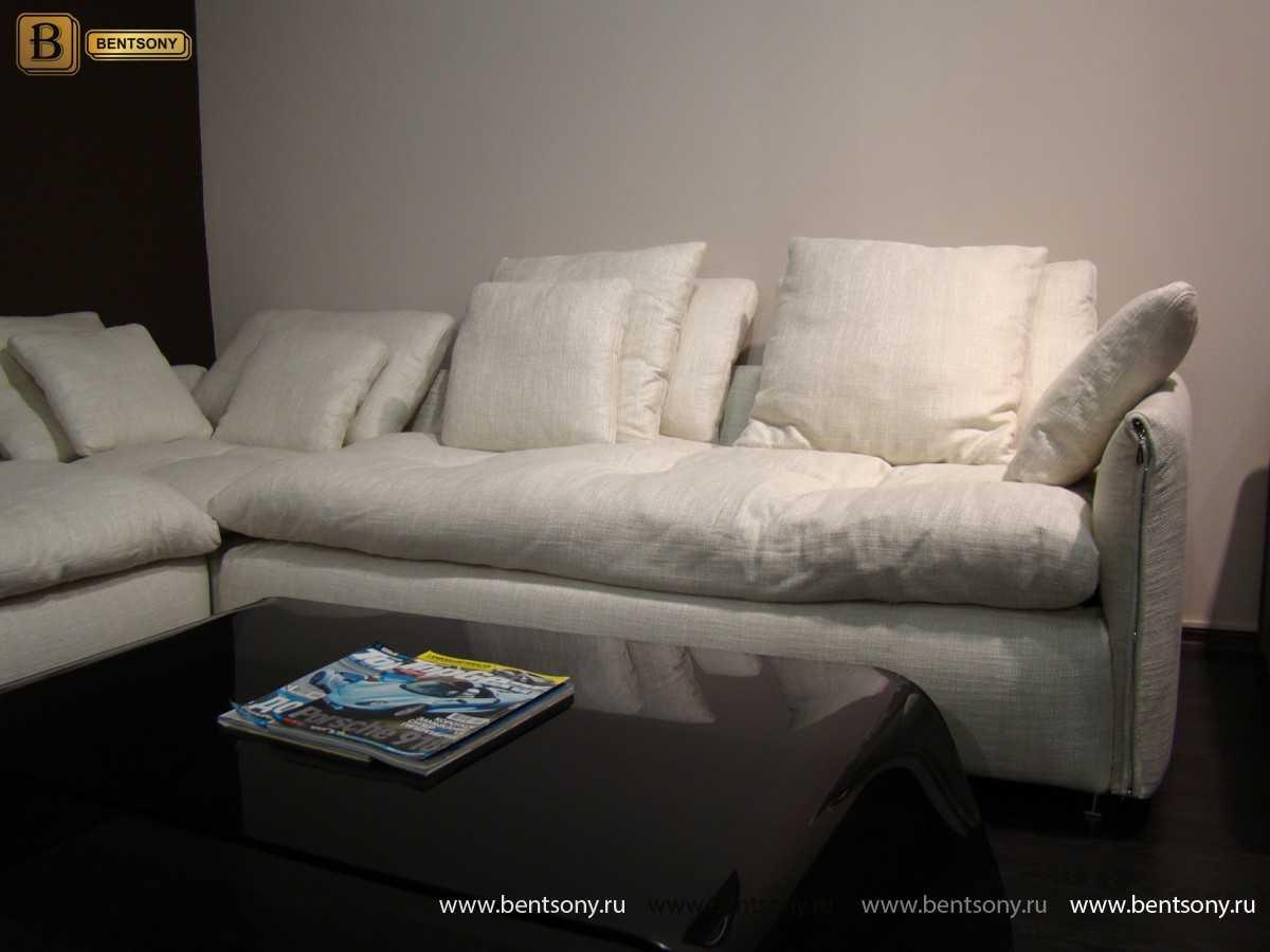 тканевый диван Арлетто цвет молочный