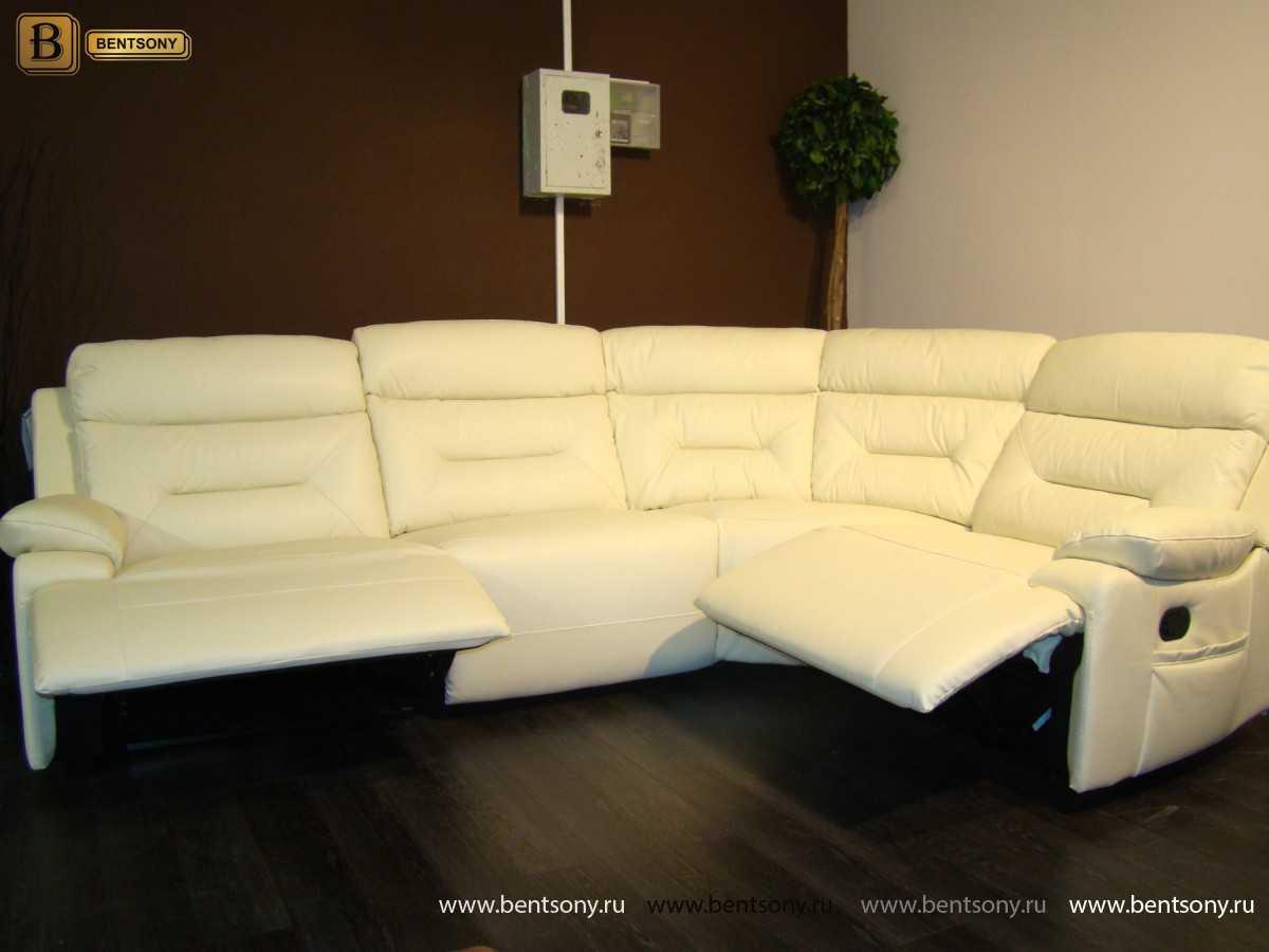 кожаная мебель диван Амелия