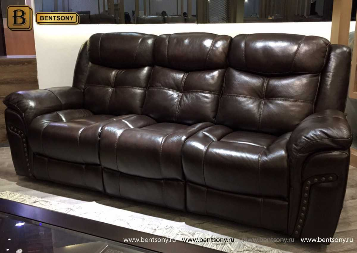 купить кожаный прямой диван Динатале