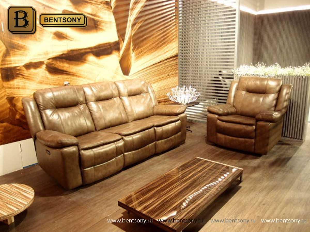 купить диван из натуральной кожи Донато фото