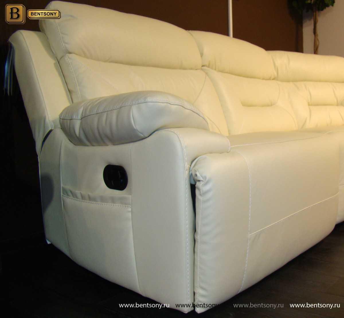 диван реклайнер с электроприводом Амелия
