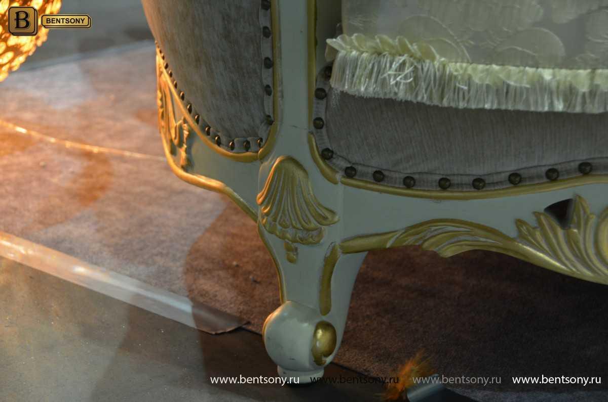 Белая мягкая классическая мебель