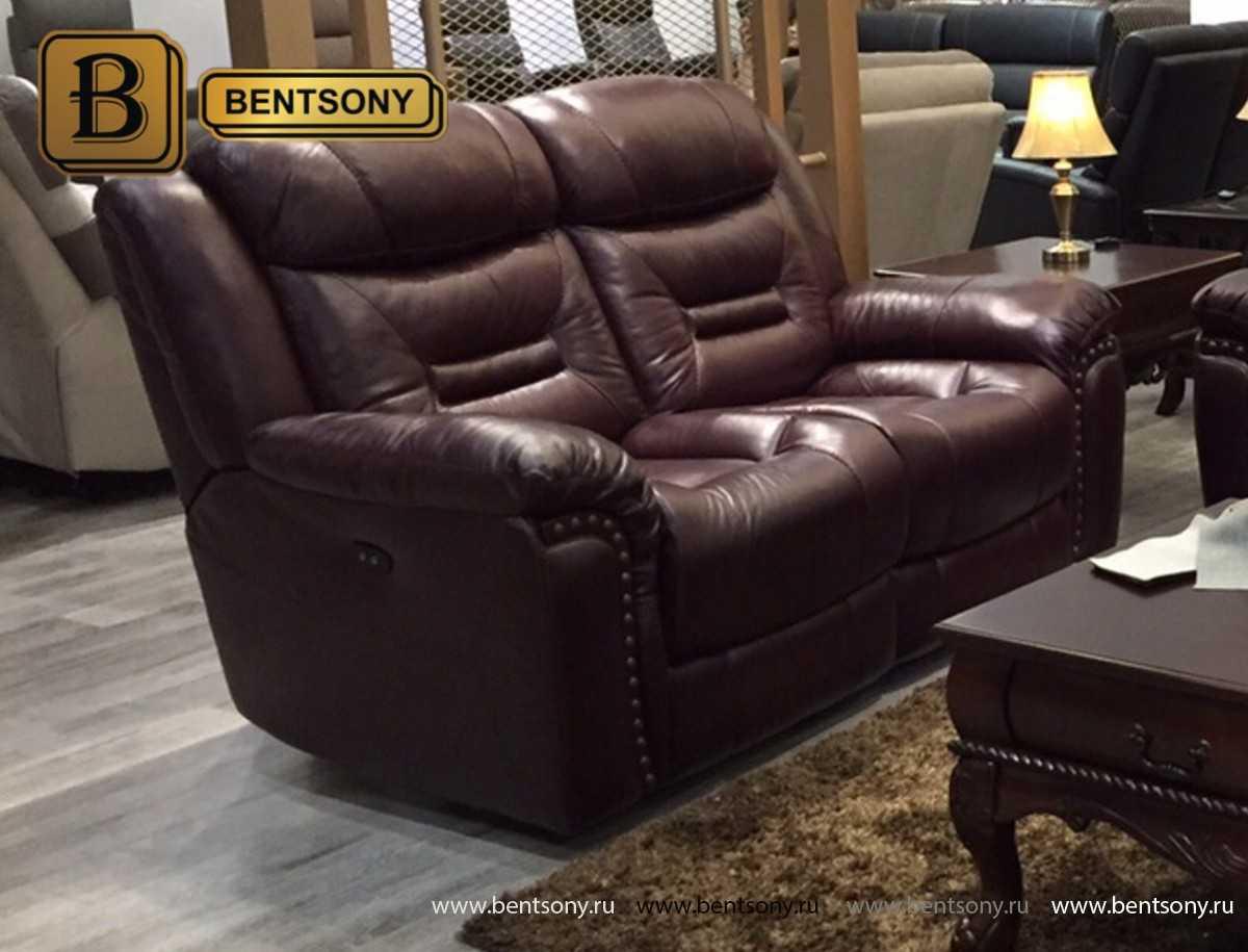 Коричневый кожаный диван Супреме москва