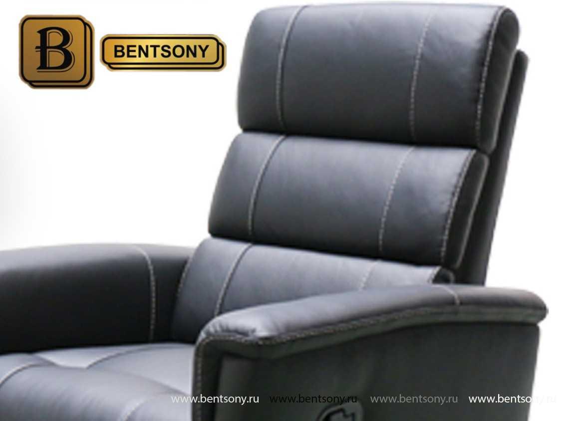 кресло кожа Рустика