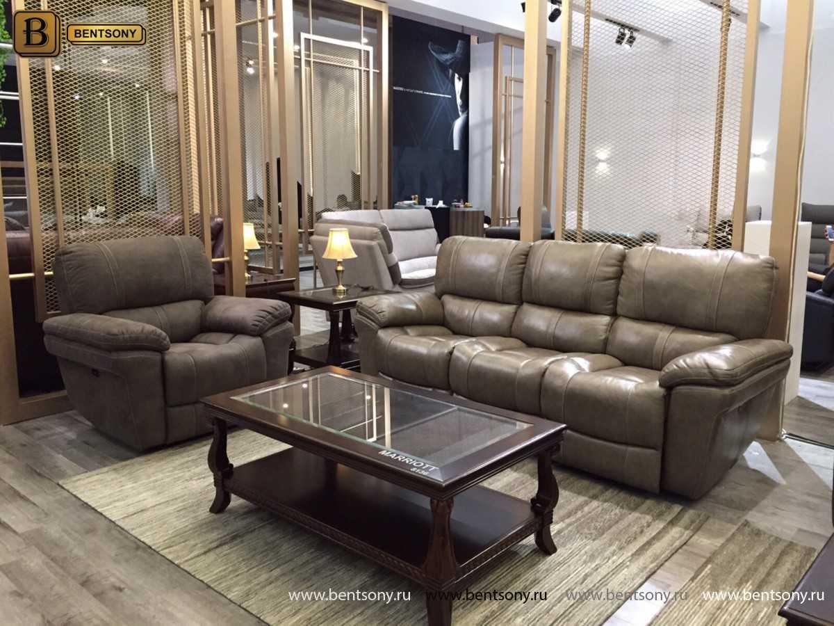купить кожаный прямой диван Марриот