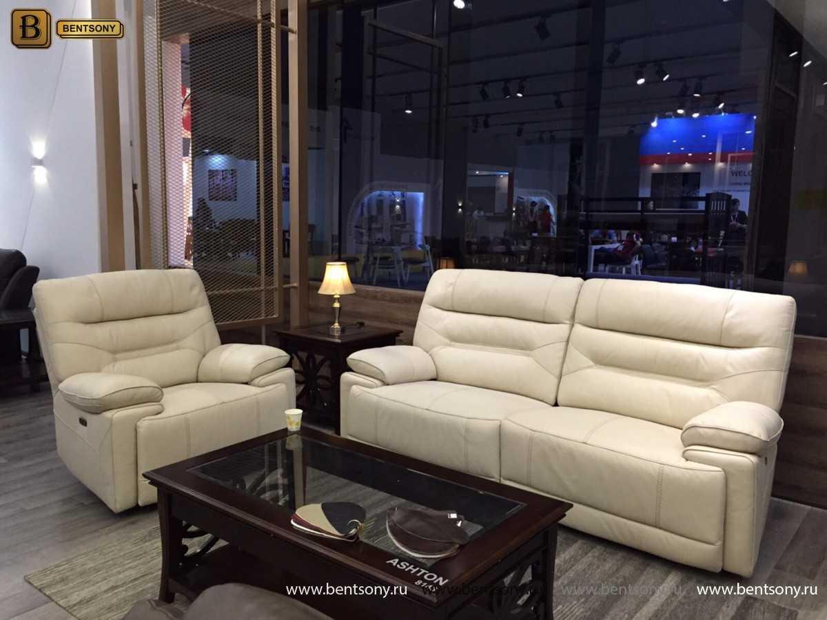 белая кожаная мебель Бенцони