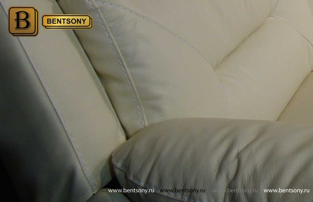 диван Амелия белый обивке натуральная кожа