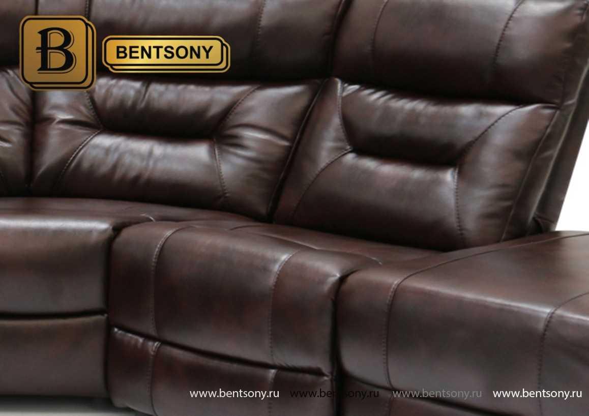 кожаные диваны реклайнеры Ментон