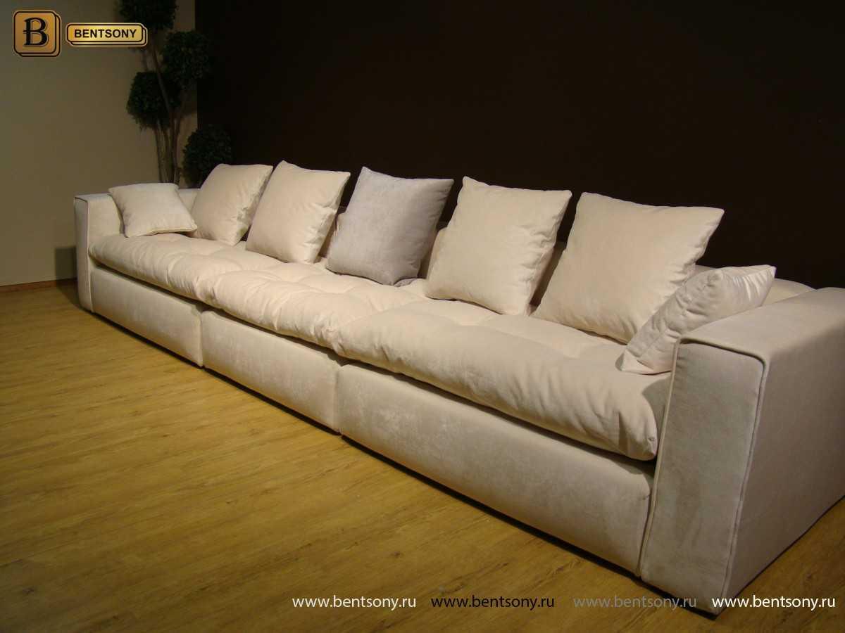 Мягкий диван Бениамино прямой