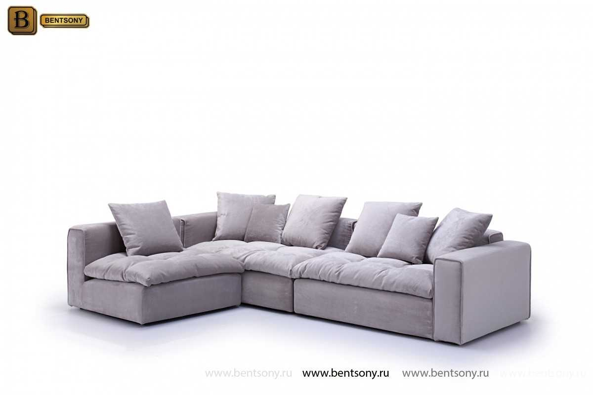 Угловой диван Бениамино серый