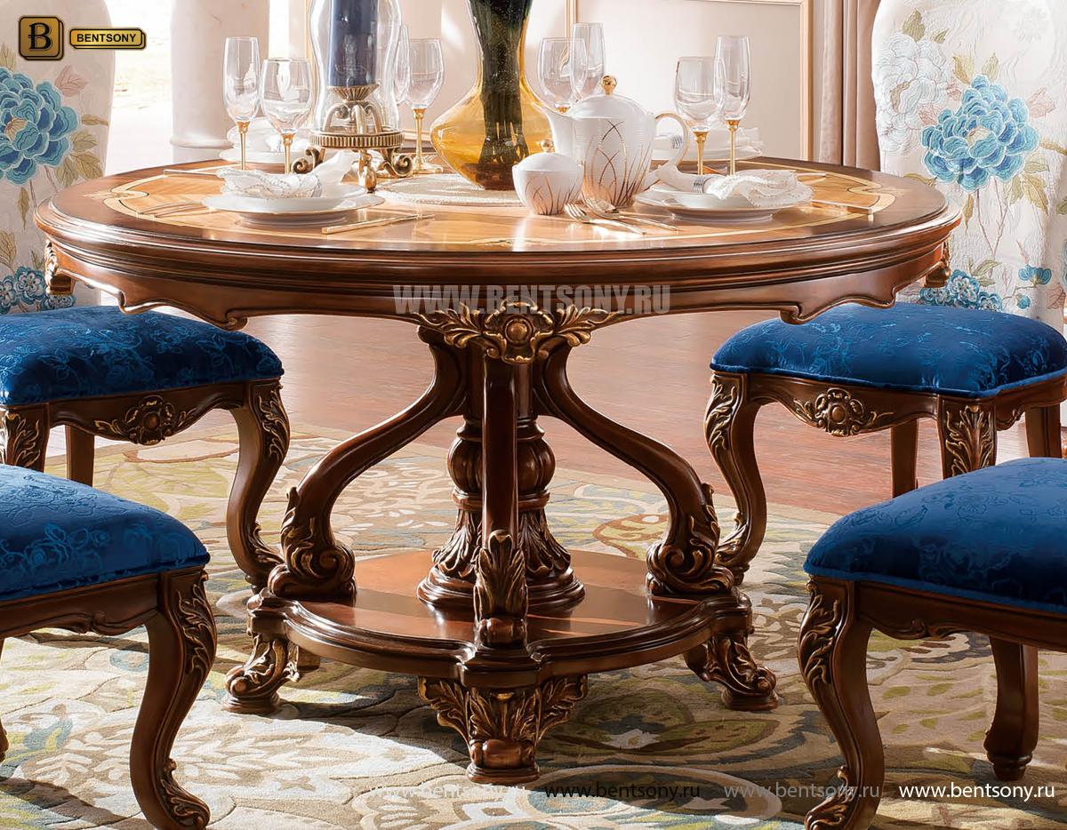 Стол обеденный круглый Батлер (Классика, массив дерева) распродажа