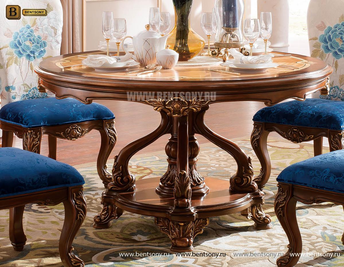 Стол обеденный круглый Батлер (Классика, массив дерева) каталог мебели