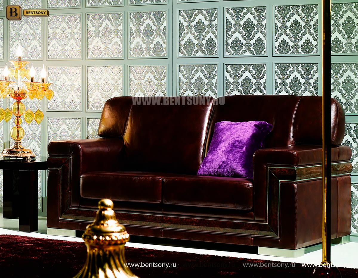 Диван Кентуки В 2-х местный (Неоклассика, натуральная кожа) для квартиры