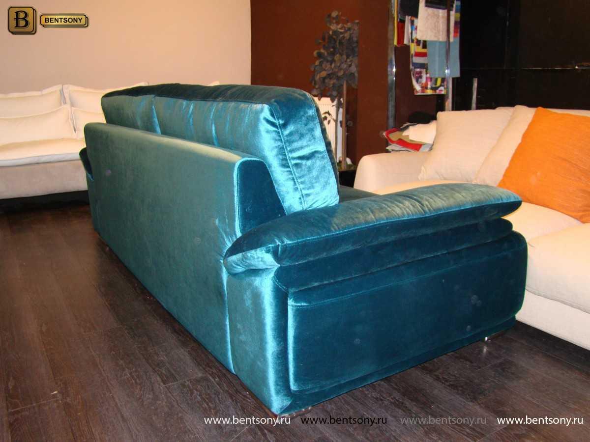 Диван Дельфико (Прямой, Ткань, Велюр) каталог мебели с ценами