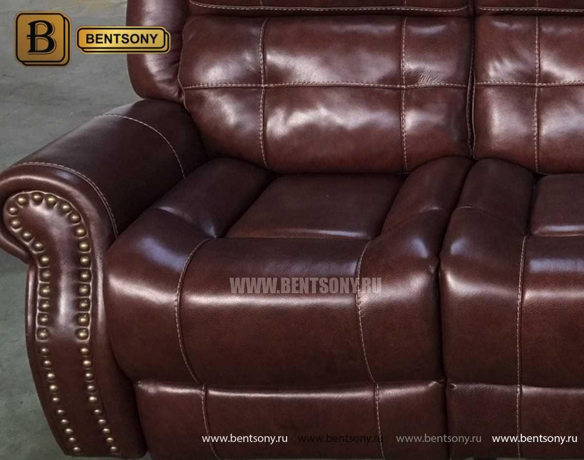купить кожаный прямой диван Локсли