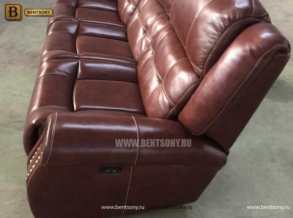 купить диван прямой кожаный Локсли