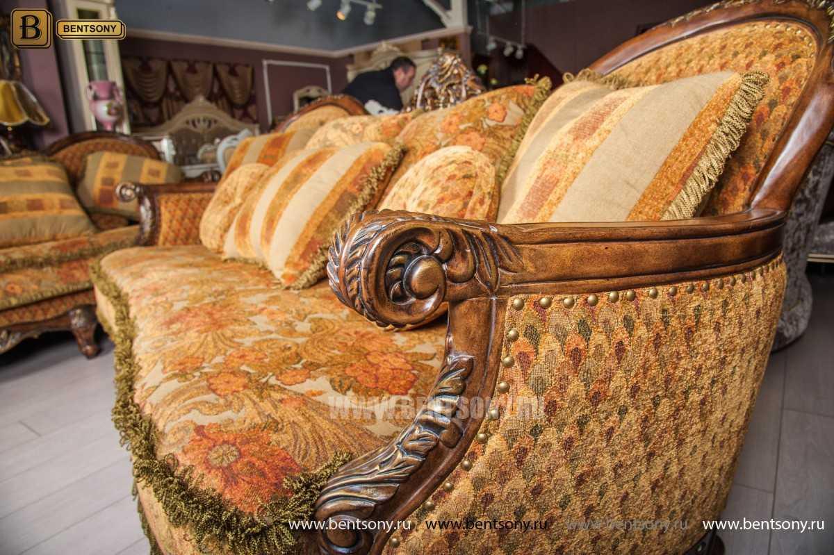 Гостиная Рамирес (Классика, Ткань, Массив дерева) фото