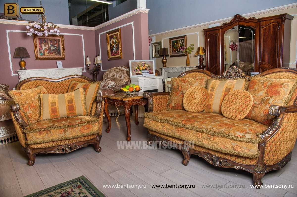 Гостиная Рамирес (Классика, Ткань, Массив дерева) купить в Москве