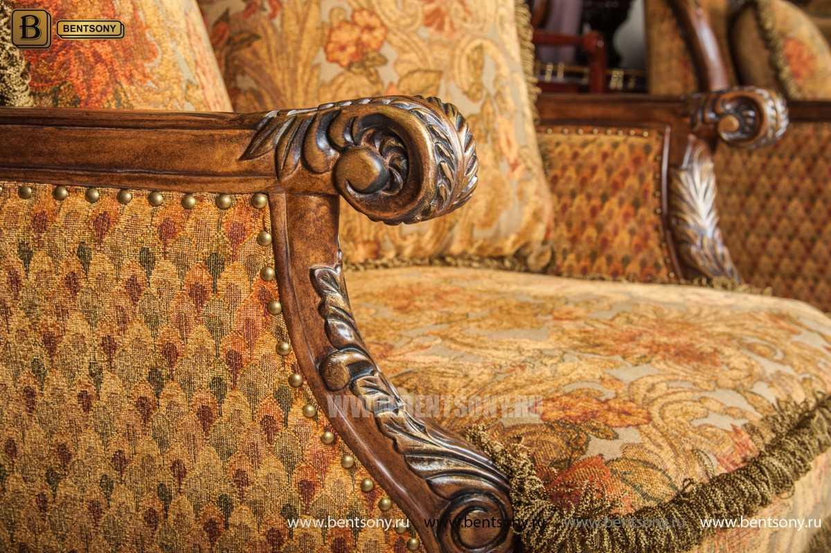 Гостиная Рамирес (Классика, Ткань, Массив дерева) для квартиры